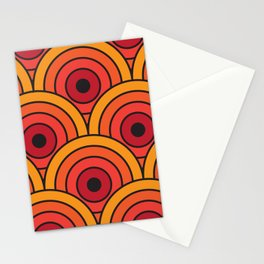 70s wallpaper Stationery Cards