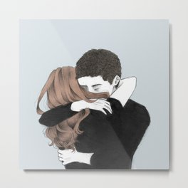 There are whole movements that I wrote imagining us, Metal Print