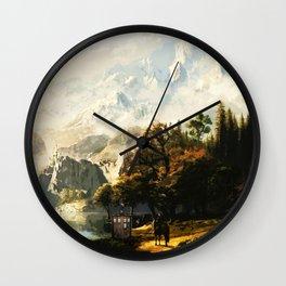 Tardis And The Horse Man Wall Clock