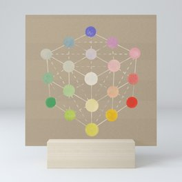 Colour cube (white point) from the Manual of the science of colour by W. Benson, 1871, Remake, vinta Mini Art Print