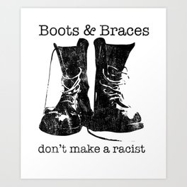 Boots & Braces graphic - Skinhead design - Anti-racist skins Art Print