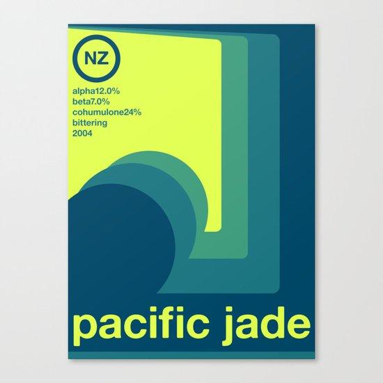 pacific jade single hop Canvas Print