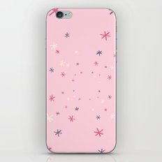 Pink Decorative Design with Stars to Infinity iPhone & iPod Skin