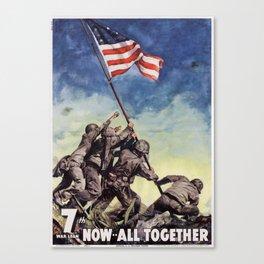 Raising the Flag on Iwo Jima Canvas Print