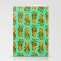 pineapples Stationery Cards featuring Pineapples by Stephanie Keir