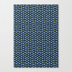 Pattern in blue and yellow Canvas Print