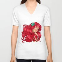 ariel V-neck T-shirts featuring ariel by Lisa ♥