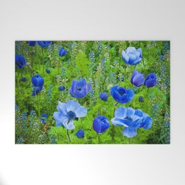Spring Blues Welcome Mat