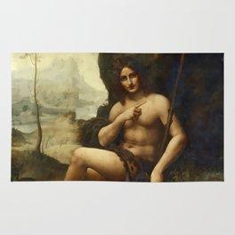 "Leonardo da Vinci ""Bacchus, formerly Saint John the Baptist"" Rug"