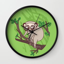 Kawaii loris Wall Clock