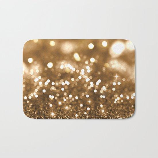 Golden Christmas Glitter Bath Mat