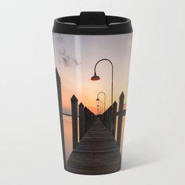 Rusty Rudder Dock Sunset Travel Mug