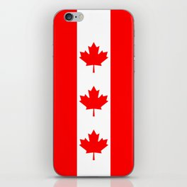Canadian National flag, Authentic color and 3:5 scale version iPhone Skin