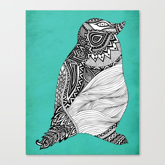 Tribal Penguin Canvas Print
