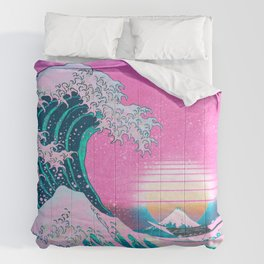 Synthwave Comforters For Any Bedroom Decor Style Society6