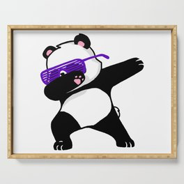 Dabbing Panda Cute Funny kids adults Dabing dane Serving Tray