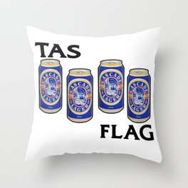 Cascade Lager - Breakfast of Champions Throw Pillow