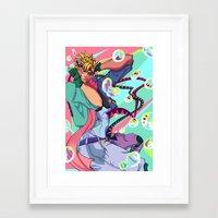 jjba Framed Art Prints featuring Caesar Zeppeli JJBA Battle Tendency by Lemonade Stand Of Life