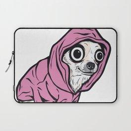 Chihuahua Pink Hoodie Laptop Sleeve