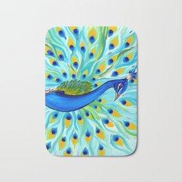 Phone case with a peacock Bath Mat