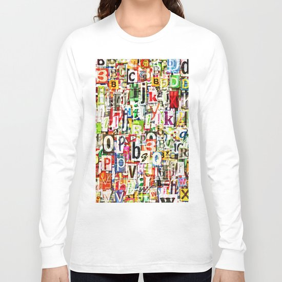Letters Long Sleeve T-shirt