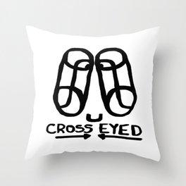Cross Eyed Throw Pillow
