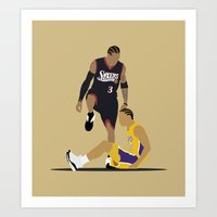 lakers Art Prints featuring Step Over Lue by Steven Paris