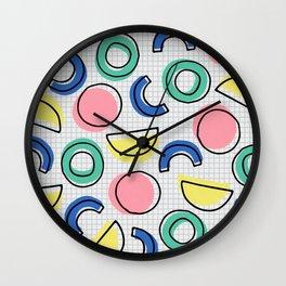 Minimal Memphis Wall Clock