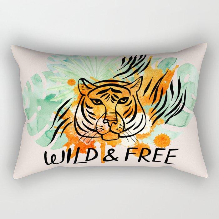 Wild and Free Tiger Rectangular Pillow