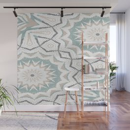Planthouse Aztec Stone & Blue Wall Mural