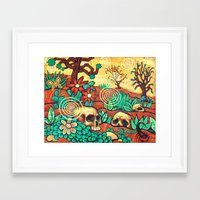 desert Framed Art Prints featuring Desert by Sherdeb Akadan