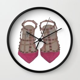 Rockstud Shoes Wall Clock
