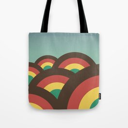 Foothills on warm blue - 70´s Tote Bag