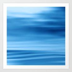 SeascapeBlue - dune Art Print