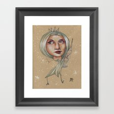 SNOWFLAKE QUEEN Framed Art Print