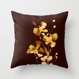 Organic Impressions 334zo by Kathy Morton Stanion Throw Pillow