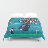hallion Duvet Covers featuring Come Along, Carl by Karen Hallion Illustrations