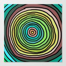 Circle Stripes Canvas Print