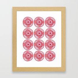 ethnic pattern red Framed Art Print
