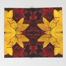 """A Gathering of Lilies"" Remix - 2 (1-1) [D4466~24] Throw Blanket"
