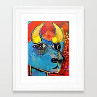 spanish Framed Art Prints featuring Spanish Bull by Rookery Design