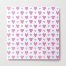 heart and love 13- Blue and pink Metal Print