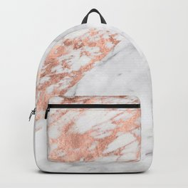 Massarosa Marchionne Bianco rose gold marble Backpack