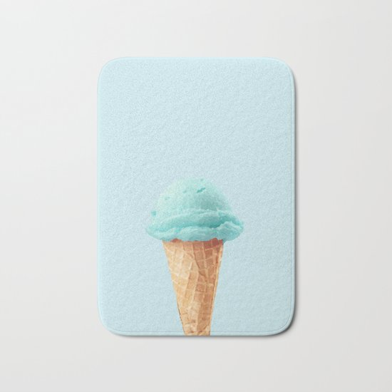 Blue ice cream Bath Mat