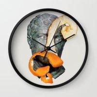 greek Wall Clocks featuring Greek Bust by Heart of Hearts Designs