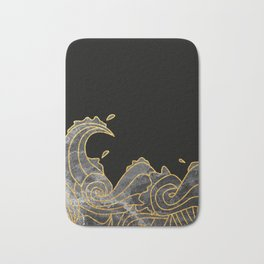 Abstract Wave 2 Bath Mat