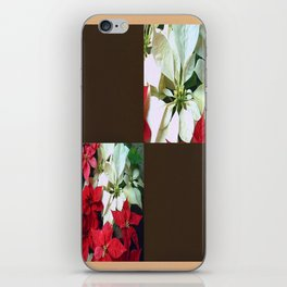 Mixed color Poinsettias 1 Blank Q3F0 iPhone Skin