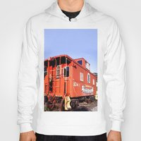 artrave Hoodies featuring Lil Red Caboose -Wellsboro Ave Hurley ArtRave by ArtRaveSuperCenter: Ave Hurley Illustrat