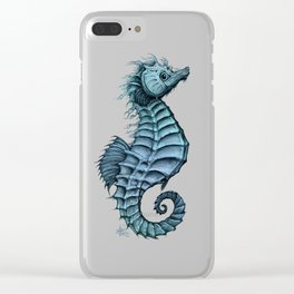 """""""Seahorse II"""" by Amber Marine ~ Ink and Watercolor Art, (Copyright 2016) Clear iPhone Case"""