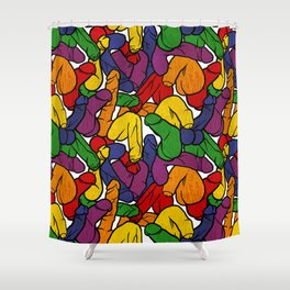Schlong Song in Rainbow, All the Penis! Shower Curtain